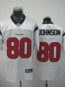 Wholesale Cheap Texans A.Johnson #80 White Stitched NFL Jersey