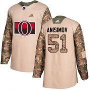 Wholesale Cheap Adidas Senators #51 Artem Anisimov Camo Authentic 2017 Veterans Day Stitched Youth NHL Jersey