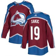 Wholesale Cheap Adidas Avalanche #19 Joe Sakic Burgundy Home Authentic Stitched Youth NHL Jersey