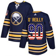 Wholesale Cheap Adidas Sabres #90 Ryan O'Reilly Navy Blue Home Authentic USA Flag Youth Stitched NHL Jersey