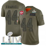 Wholesale Cheap Nike Chiefs #44 Dorian O'Daniel Camo Super Bowl LIV 2020 Men's Stitched NFL Limited 2019 Salute To Service Jersey