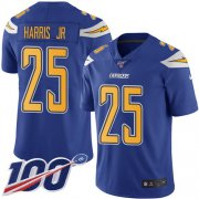 Wholesale Cheap Nike Chargers #25 Chris Harris Jr Electric Blue Youth Stitched NFL Limited Rush 100th Season Jersey