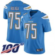 Wholesale Cheap Nike Chargers #75 Bryan Bulaga Electric Blue Alternate Youth Stitched NFL 100th Season Vapor Untouchable Limited Jersey