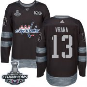 Wholesale Cheap Adidas Capitals #13 Jakub Vrana Black 1917-2017 100th Anniversary Stanley Cup Final Champions Stitched NHL Jersey