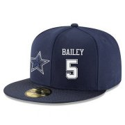 Wholesale Cheap Dallas Cowboys #5 Dan Bailey Snapback Cap NFL Player Navy Blue with White Number Stitched Hat