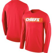 Wholesale Cheap Kansas City Chiefs Nike Sideline Seismic Legend Long Sleeve T-Shirt Red