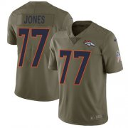 Wholesale Cheap Nike Broncos #77 Sam Jones Olive Men's Stitched NFL Limited 2017 Salute To Service Jersey