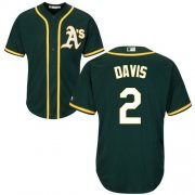 Wholesale Cheap Athletics #2 Khris Davis Green Cool Base Stitched Youth MLB Jersey