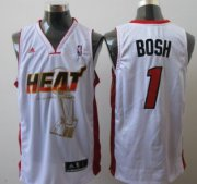 Wholesale Cheap Miami Heats #1 Chris Bosh White The Finals Commemorative Jersey