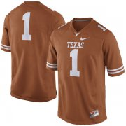 Wholesale Cheap Men's Texas Longhorns 1 Orange Nike College Jersey