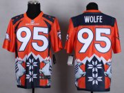 Wholesale Cheap Nike Broncos #95 Derek Wolfe Orange Men's Stitched NFL Elite Noble Fashion Jersey