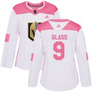 Wholesale Cheap Adidas Golden Knights #9 Cody Glass White/Pink Authentic Fashion Women's Stitched NHL Jersey