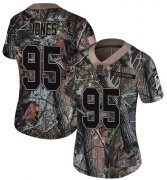 Wholesale Cheap Nike Chiefs #95 Chris Jones Camo Women's Stitched NFL Limited Rush Realtree Jersey