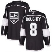 Wholesale Cheap Adidas Kings #8 Drew Doughty Black Home Authentic Stitched NHL Jersey