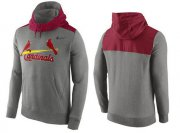 Wholesale Cheap Men's St.Louis Cardinals Nike Gray Cooperstown Collection Hybrid Pullover Hoodie