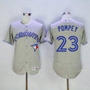Wholesale Cheap Blue Jays #23 Dalton Pompey Grey Flexbase Authentic Collection Stitched MLB Jersey