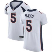 Wholesale Cheap Nike Broncos #5 Joe Flacco White Men's Stitched NFL Vapor Untouchable Elite Jersey