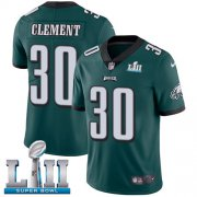 Wholesale Cheap Nike Eagles #30 Corey Clement Midnight Green Team Color Super Bowl LII Youth Stitched NFL Vapor Untouchable Limited Jersey