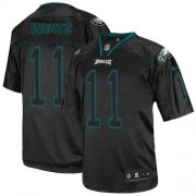 Wholesale Cheap Nike Eagles #11 Carson Wentz Lights Out Black Men's Stitched NFL Elite Jersey