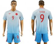 Wholesale Cheap Turkey #9 Tosun Away Soccer Country Jersey