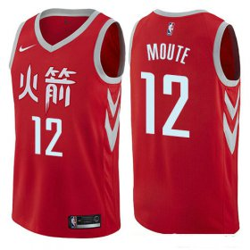Wholesale Cheap Houston Rockets #12 Luc Mbah a Moute Red Nike NBA Men\'s Stitched Swingman Jersey City Edition