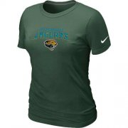 Wholesale Cheap Women's Nike Jacksonville Jaguars Heart & Soul NFL T-Shirt Dark Green