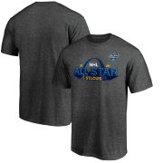 Wholesale Cheap 2020 NHL All-Star Game St. Louis T-Shirt Heather Gray