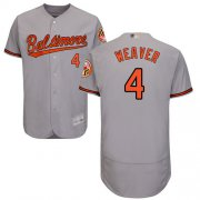 Wholesale Cheap Orioles #4 Earl Weaver Grey Flexbase Authentic Collection Stitched MLB Jersey