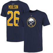 Wholesale Cheap Buffalo Sabres #26 Matt Moulson Reebok Name & Number T-Shirt Navy