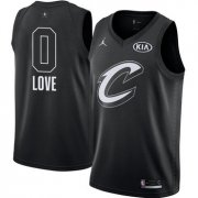 Wholesale Cheap Nike Cavaliers #0 Kevin Love Black NBA Jordan Swingman 2018 All-Star Game Jersey