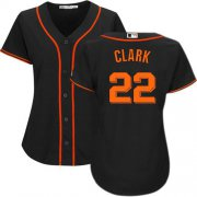 Wholesale Cheap Giants #22 Will Clark Black Alternate Women's Stitched MLB Jersey