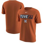 Wholesale Cheap Houston Astros #27 Jose Altuve Nike Legend Player Nickname Name & Number T-Shirt Orange
