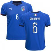 Wholesale Cheap Italy #6 Candreva Home Kid Soccer Country Jersey