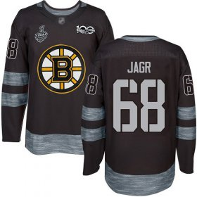 Wholesale Cheap Adidas Bruins #68 Jaromir Jagr Black 1917-2017 100th Anniversary Stanley Cup Final Bound Stitched NHL Jersey