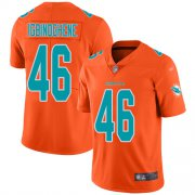 Wholesale Cheap Nike Dolphins #46 Noah Igbinoghene Orange Men's Stitched NFL Limited Inverted Legend Jersey