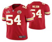Wholesale Cheap Men's Kansas City Chiefs #54 Damien Wilson Red 2021 Super Bowl LV Limited Stitched NFL Jersey