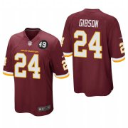 Cheap Washington Redskins #24 Antonio Gibson Men's Nike Burgundy Bobby Mitchell Uniform Patch NFL Game Jersey