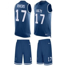 Wholesale Cheap Nike Colts #17 Philip Rivers Royal Blue Team Color Men\'s Stitched NFL Limited Tank Top Suit Jersey