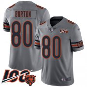 Wholesale Cheap Nike Bears #80 Trey Burton Silver Youth Stitched NFL Limited Inverted Legend 100th Season Jersey