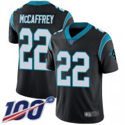 Wholesale Cheap Nike Panthers #22 Christian McCaffrey Black Team Color Youth Stitched NFL 100th Season Vapor Limited Jersey