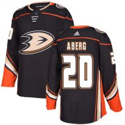 Wholesale Cheap Adidas Ducks #20 Pontus Aberg Black Home Authentic Stitched NHL Jersey