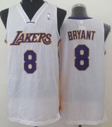 Wholesale Cheap Los Angeles Lakers #8 Kobe Bryant White Swingman Jersey