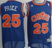 Wholesale Cheap Cleveland Cavaliers #25 Mark Price Blue Swingman Throwback Jersey