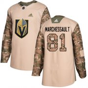 Wholesale Cheap Adidas Golden Knights #81 Jonathan Marchessault Camo Authentic 2017 Veterans Day Stitched Youth NHL Jersey