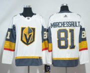 Wholesale Cheap Adidas Golden Knights #81 Jonathan Marchessault White Road Authentic Stitched NHL Jersey