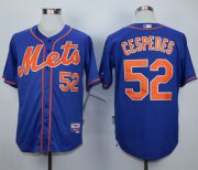 Wholesale Cheap Mets #52 Yoenis Cespedes Blue Alternate Home Cool Base Stitched MLB Jersey