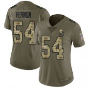 Wholesale Cheap Nike Browns #54 Olivier Vernon Olive/Camo Women's Stitched NFL Limited 2017 Salute to Service Jersey
