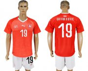 Wholesale Cheap Switzerland #19 Gavranovic Red Home Soccer Country Jersey
