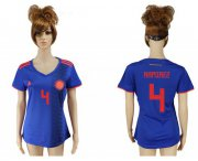 Wholesale Cheap Women's Colombia #4 Ramirez Away Soccer Country Jersey