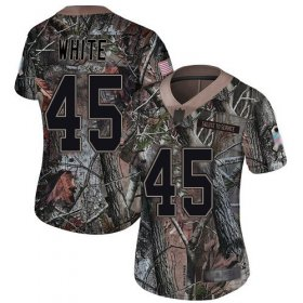 Wholesale Cheap Nike Buccaneers #45 Devin White Camo Women\'s Stitched NFL Limited Rush Realtree Jersey
